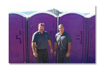 Purple Port a potty